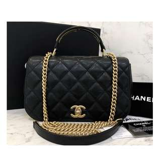 Authentic Chanel Top Handle Flap Bag