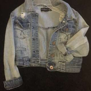 High Quality Button up Cropped Denim Jacket