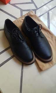 Bershka Black Leather Shoes (size 10)