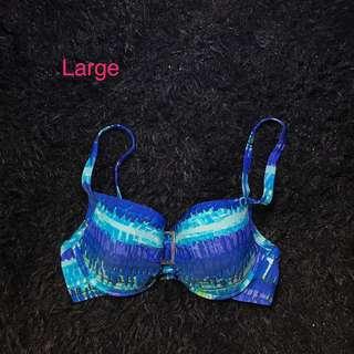 Buckled shades of blue bikini too