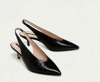 Zara sling back heel