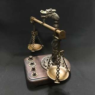 Prosperity Bat & Dragon Traditional Weighing Scale