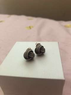 Authentic Tiffany Twist Knot Earrings