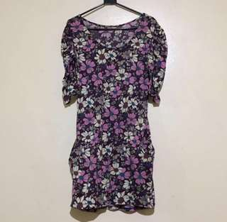 Floral long Tee