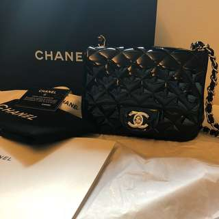 Patent Chanel Square Mini 17cm 方胖子