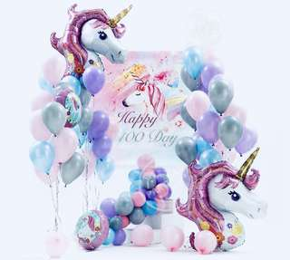 Unicorn Foil Balloons Party Decor