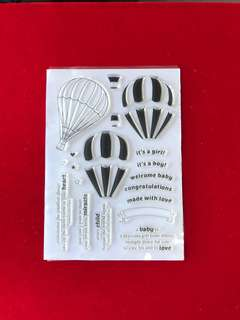 Balloon #4 scrapbook clear stamps