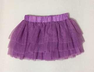 H&M Tulle Skirt Girls 2-3Y Purple