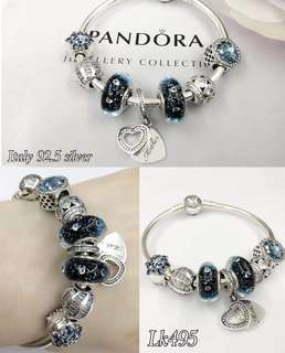 Pandora Bangle with 7 Charms
