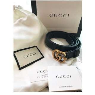 Gucci 經典真皮皮帶 85cm