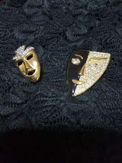 Vintage Mask Brooches