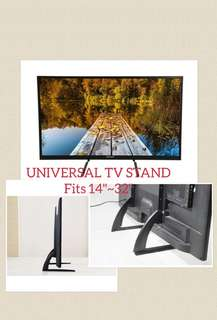 """Universal TV Stand fits 14""""~32"""" LED LCD Table top tv bracket"""