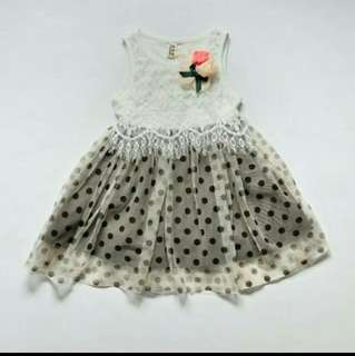 Dress polkadot anak