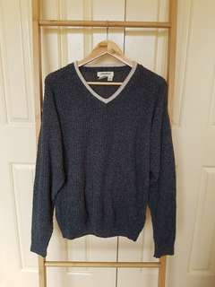 Vintage oversized grey knit jumper