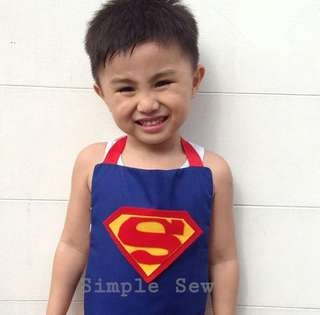 Inspired Superman Dress up Apron