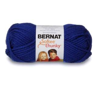 Bernat Softee Chunky navy blue yarn 3 x 100g