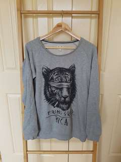 Grey RVCA sweater