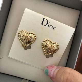 Dior 耳環 gold Earring ear clip