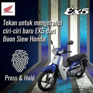 HONDA EX5 110 Fi DP Rm1000 Sebulan Rn184X36