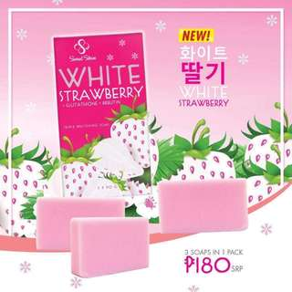 White Strawberry 3 soaps for ₱180