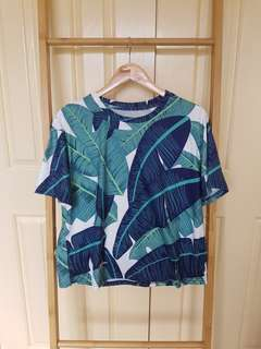 Leaf short sleeve top