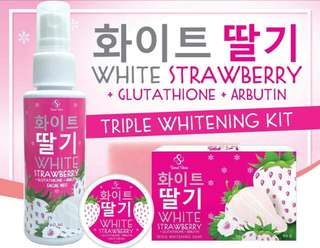 White StrawberryTriple Whitening  Kit