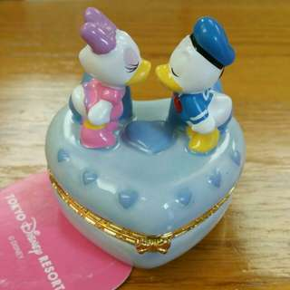 Tokyo Disney Resort 唐老鴨黛絲 donald duck daisy 情侶陶瓷盒