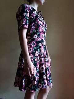F21 Burgundy Dress