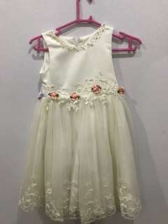 Kids white dress-bridesmaid