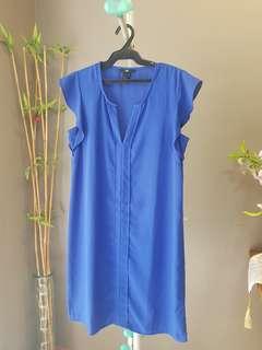 H&M blue chiffon dress