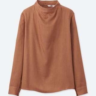 Uniqlo women' Rayon long sleeve thick weave