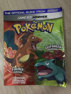 Pokemon Firered & Leafgreen Official Guide (Nintendo Power)