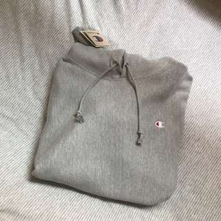 Champion Reverse Weave Hoodie Grey Size XL
