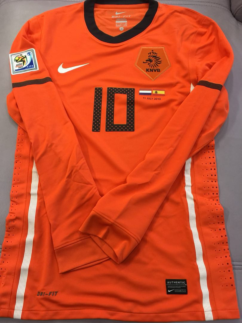 ea8a182c5544 100% Authentic Nike Holland World Cup Player Issue Jersey Sneijder ...