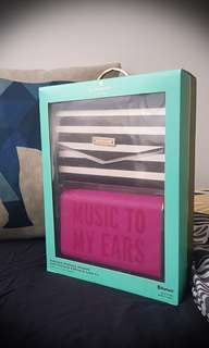 KATE SPADE NEW YORK ~ Portable wireless speaker with cover