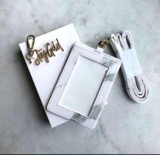 Sephora stay gold marble cardholder lanyard