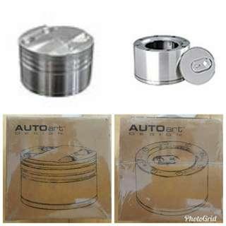 Autoart 鋁合金4閥活塞筒儲物盒及鋁合金汽車電油儲物罐