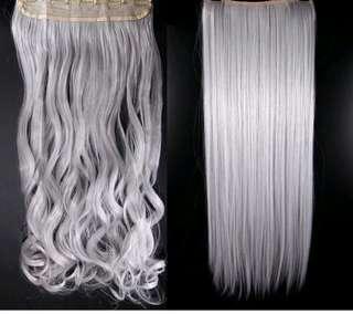Grey hair extension
