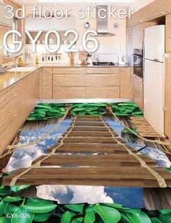 3D  Floor and Cieling Photo  Mural Wallpaper