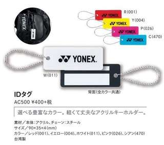 Genuine Yonex ID tag AC500. Japan limited item