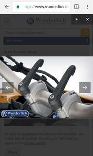 BMW R1200GS and F800 Wunderlich quick release handlebar adjust