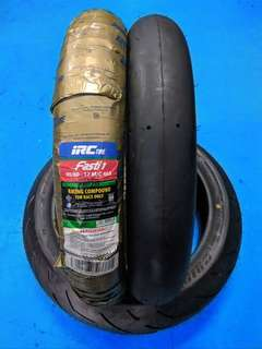 tayar y15 lc135 90/80/17 racing slick race irc fasti 1