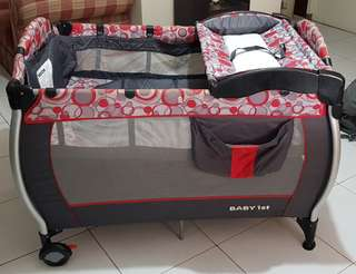 Baby 1st Playpen/Crib with Rocking Feature