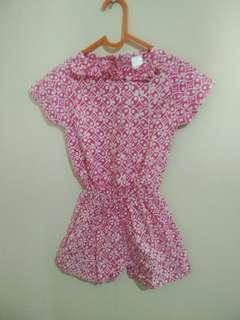 Jumpsuit pink batik