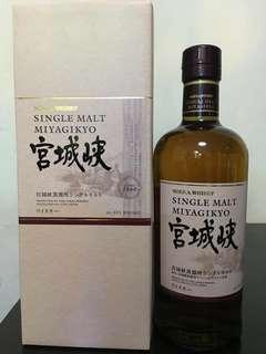 日本宮城峽NAS威士忌700ml with box.