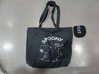 Snoopy 單膊 手挽袋 包含1個小收納袋~日本雜誌附錄袋