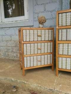 Lemari Laci. Storage Shelf. 3 tingkat