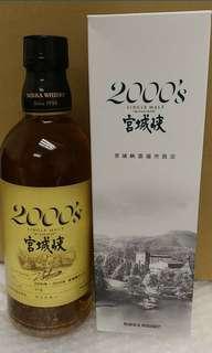 已停止生產,絕版宮城峽酒廠限定出品,2000's宮城峽原酒500ml with box.