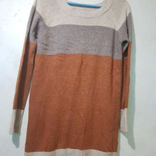 Knitted Brown Long Top