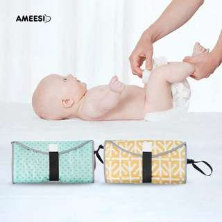 Baby multifunction portable diaper changing pad/clutch